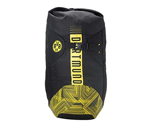 Puma BVB FtblCulture Rolltop Backpack Rucksack, Black-Cyber Yellow, UA