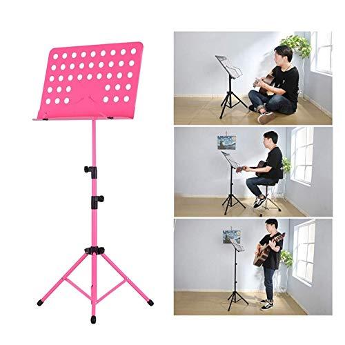 LY-Rack Soporte de pie telescópico de pie, Soporte de Soporte de música Plegable Ajustable, Soporte de Tableta de Estante de pie (Color : Rosado)