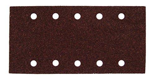 MAKITA P-42880 P-42880-Pack 10 lijas Perforadas con Velcro 100x240 mm para BO4566-BO4563 Grano 80, Negro