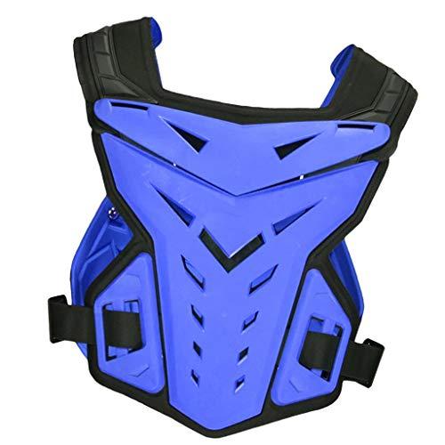 Générique Baoblaze Vêtements Protection Moto Gilet de Protection Taille Moyenne Durable, Respirant, Flexible Et Résistant, Agréable à Porter - Bleu, M