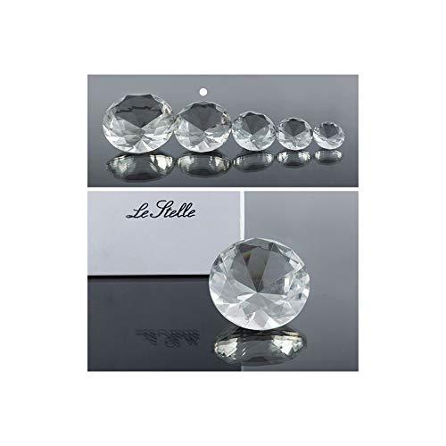 Super oferta 4 unidades de diamante cristal de 8 cm en caja regalo bombonera