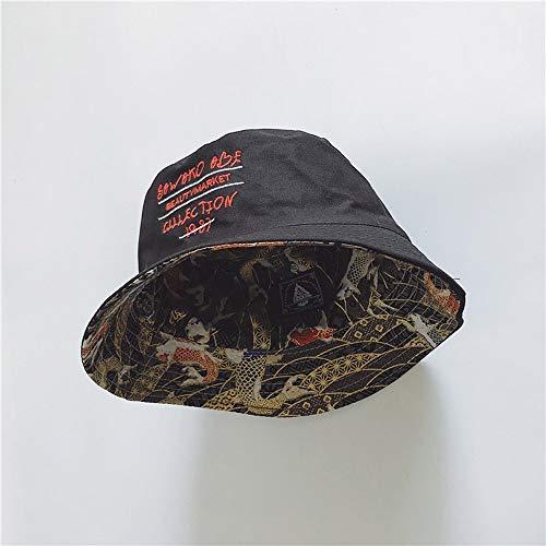 Yunbai Sombrero Pescador Sombrero Informal Sombrero al Aire Libre se Divierte el Casquillo Gorra for el Sol Sombrero for el Sol Cuenca del Sombrero de Las Mujeres, de Doble Cara del Uso de protección