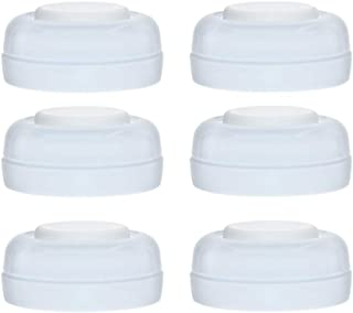 Maymom Screw Lids Aka Travel Caps with Rewritable Sealing Disc for Avent, Maymom Wide Mouth Bottles; Cap Replace Avent Natural Bottle Sealing Ring and Sealing Disc,6pcs/1set.
