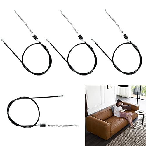 4 Piezas de sofá reclinable de 95 cm y Cable para sillón de Ocio, Varilla de liberación de Metal de Repuesto Universal, Cable de tracción General General Especial para sofá