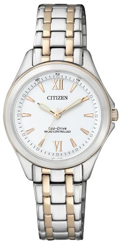 Citizen Damen-Armbanduhr Elegant Analog Quartz Edelstahl ES4024-52A