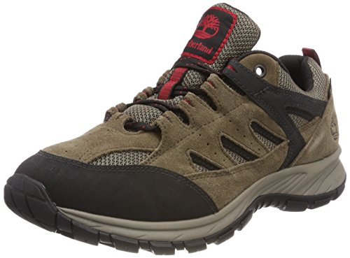 Timberland Sadler Pass Fabric And Leather Low Gore-Tex, Scarpe Oxford Uomo, Marrone Brown (Light Brown Suede), 43.5 EU