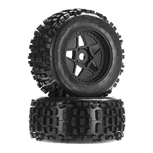 """ARRMA AR510092 Dboots Backflip 3.8"""" Mt 6S RC Monster Truck Tire with Foam Insert, Mounted On Multi-Spoke Wheel 17Mm Hex, Black (Set of 2)"""