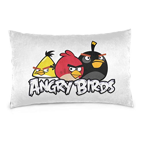 SymphonyLeak Custom Angry Birds Pillowcase Decorative Pillowcase Sofa Bed Pillowcase Double-Sided Cover Various Sizes