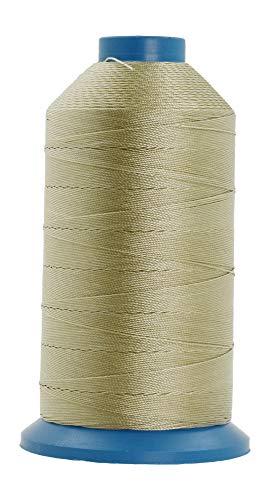 Mandala Crafts Nylonfaden zum Nähen von Leder, Polster, Jeans und Weben von Haaren; strapazierfähig (T135#138 420D/3, Beige)