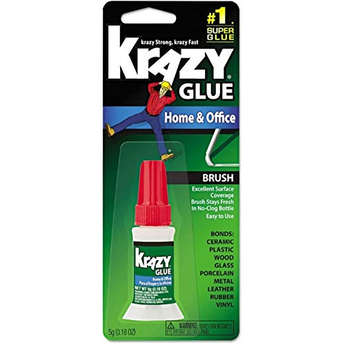 Krazy Glue Home and Office Brush-On Glue, 0.18 oz (Pack of 24)
