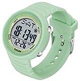 Reloj de pulsera digital para mujer con cronómetro, resistente al...