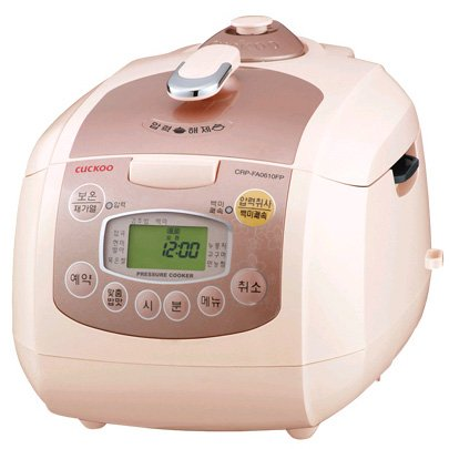Cuckoo Rice Cooker | CRP-FA0610F (Ivory/Gold)