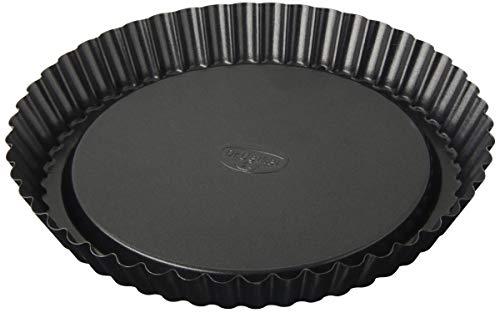 Dr. Oetker Obstkuchenform Ø 22 cm, Backform für Obsttorten, runde Kuchenform aus Stahl mit Antihaftbeschichtung (Farbe: schwarz), Menge: 1 Stück