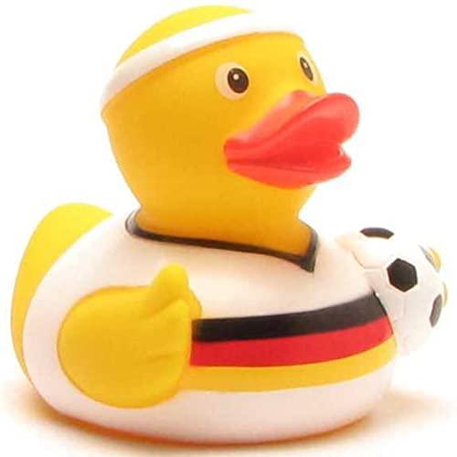 Duckshop Fußball Badeente Deutschland-Trikot I Quietscheente I L: 7,5 cm
