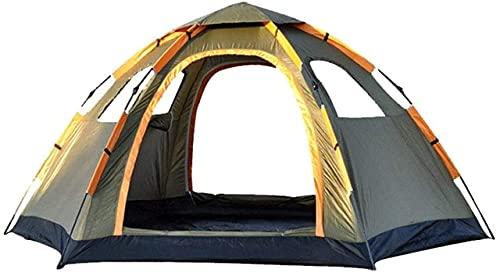 SHWYSHOP Tiendas de campaña para Acampar Tienda de campaña para Acampar al Aire Libre Primavera de Velocidad automática Abrir Tienda Hexagonal de 5-8 Personas para Pesca con Mochila