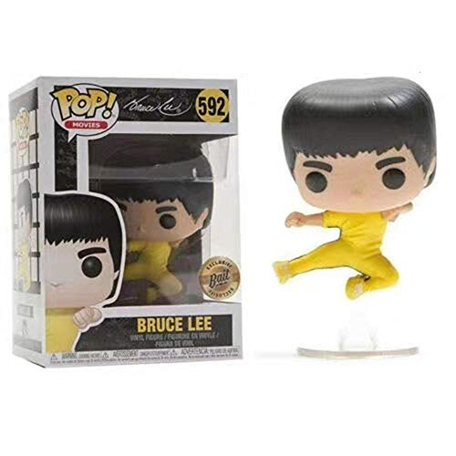 WENJZJ Pop Bruce Lee Q version Anime Figura Juguete Modelo de Coche decoracion
