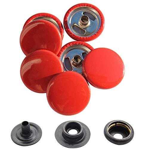 Weddecor Beige 15mm drukknopen zware metalen nikkel gratis 4 delen drukknopen klinknagels knop voor leer ambachten, jassen, tassen, riemen, jeans, kleding reparatie - Pack van 10