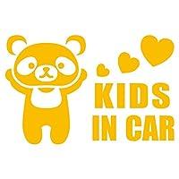 imoninn KIDS in car ステッカー 【パッケージ版】 No.12 パンダさん (黄色)