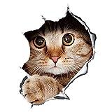 Macabolo 3D Stereo Katze abnehmbare Auto Aufkleber Anime lustige Dekoration Kätzchen Aufkleber Auto Styling Aufkleber 13 * 18cm