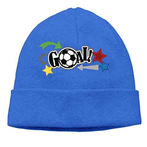 XCNGG Strickmütze Wollmütze Unisex Love Soccer Knitted Cap, Winter Skull Cap