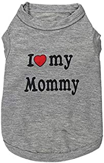 I love my mommy Dress Clothes Shirt Vest Costume for small Dog Puppy Cat Grey Fancy Paws - Size S