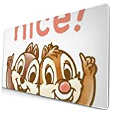 Ye Hua Extra Large Mouse Pad -Chip N Dale Nice Desk Mousepad - 15.8x29.5in (3mm Thick)- XL Protective Keyboard Desk Mouse Mat for Computer/Laptop