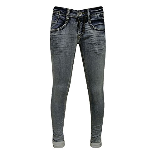 Blue Rebel - meisjes jeans Super Skinny Fit Washed-look. blauw