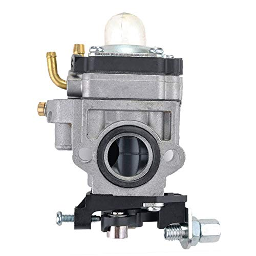 WeiCYN 15mm Carburateur Carb for 40cc 43cc 49cc heggenscharen bosmaaiers Motor 2 Stroke Mini-Choppers ATV Pocket Bikes (Color : Silver)