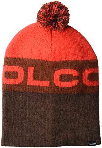 Volcom Global Beanie -Snow 2019-(J5851906_BRD) - Black Red - One Size
