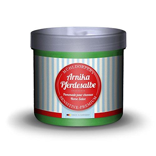 Mühldorfer Arnika Pferdesalbe, 500 ml, erfrischt und vitalisiert strapazierte Muskulatur, hautfreundlich, mit Arnikaextrakt, Pflegemittel für Pferde und Ponys