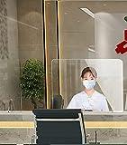 YYDS Protector contra estornudos Escudo Protector acrílico Protección Barrera Protectora de Pantalla para escritorios de Estudiantes Oficinas Mostradores de Pago y Tiendas(Size:W600 x H400mm)