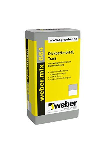Weber.mix 664 Dickbettmörtel Trass