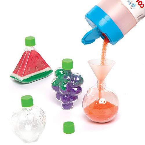 Baker Ross Fruit Flessen met Zandkunst (5 stuks) Knutselspullen en Knutselsets voor Kinderen