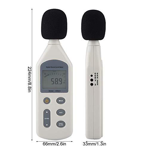 サウンドレベルメーター騒音計デジタルサウンドレベルメーター手持ち騒音レベル測定騒音測定高精度小型30〜130dB測定範囲自由研究野外イベント工事現場などに