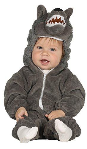 Guirca- Disfraz lobo baby, Talla 6-12 Meses (87592.0)