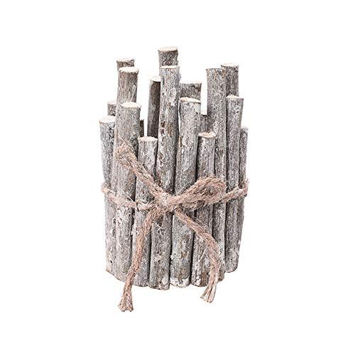Kanggest. Teelichthalter aus Holz, Tannenzapfen, Weihnachtsbaum, Kerzenhalter, Treibholz, Kerzenhalter, Metalllaternen, Kerzenhalter, Tischdekoration, Grau