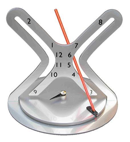 Fibonacci Clocks The Hyperbola Uhr, roter fluoreszierender Arm