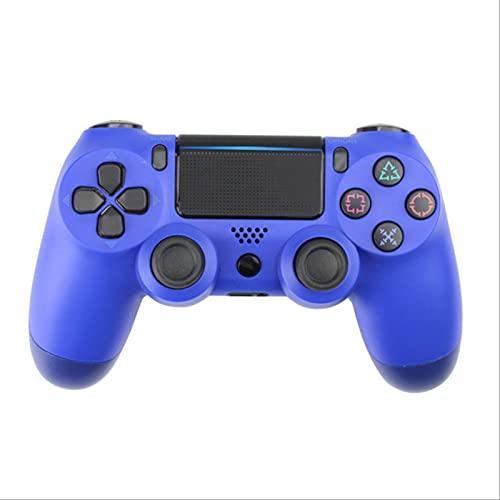 Leisont - Controlador de Joystick Bluetooth inalámbrico Tablero de Juego Dual Shock 4 Consola de Juegos para el Controlador de vibración PS3 PC Copos de Nieve Azul