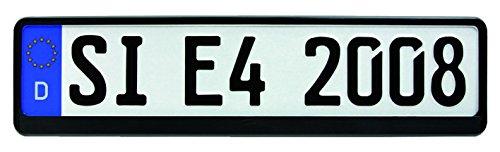 HP-Autozubehör 18508 Kennzeichenhalter Mattschwarz