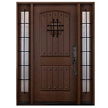 New Fiberglass Entry Doors with Sidelights 2X 12 Sidelites and 1X 80  Single Door with SpeakeasyFMKA  12 x36 x12 x80  Left Hand - in Swing