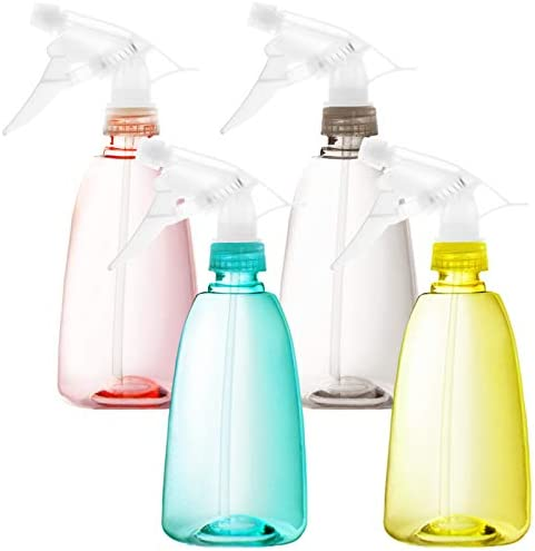 Youngever 6 Pack Empty Plastic Spray Bottles Spray Bottles for Hair and Cleaning Solutions 6 product image