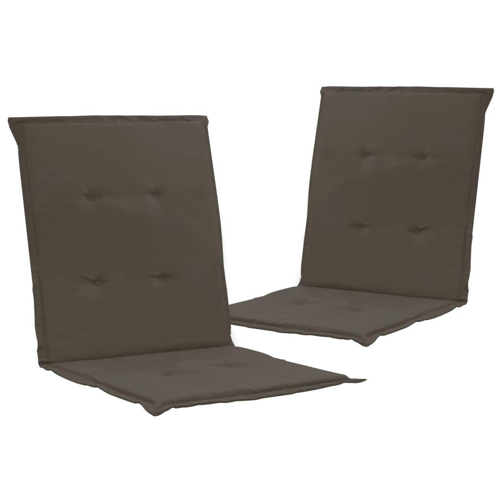 VidaXL - Cojines para silla de jardín, 2 unidades, color antracita, 39,4 x 19,7 x 1,2 pulgadas: Amazon.es: Hogar