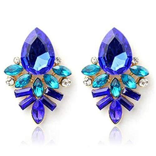 Ellepigy Pendientes colgantes de diamantes de imitación azules joyería de aleación para niñas