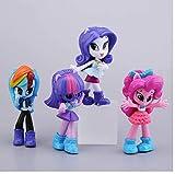 zdfgv 4 unids/Set My Little Pony Friendship Is Magic Fashion Girl Dibujos Animados Anime Figuras Modelo Arco Iris Unicornio muñecas niños 8cm