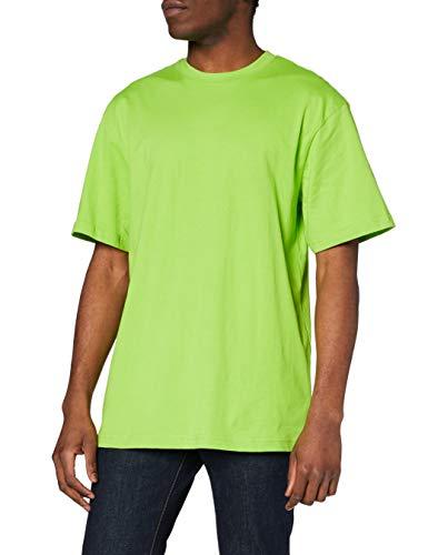 Urban Classics Tall tee Camiseta, limegreen, 5XL para Hombre