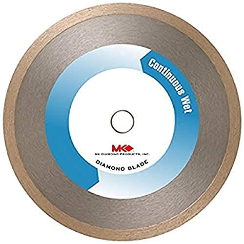 MK Diamond 154861 MK-100 7-Inch Wet Cutting Continuous Rim Diamond Saw Blade with 5/8-Inch Arbor for Tile and Marble