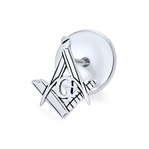 Freimaurer Freimaurer Kompass Symbol Anstecknadel Stift Lehrling Quadrat Für Männer Für Frauen 925 Sterling Silber