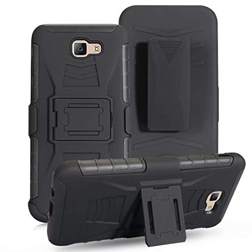 A5 2017 Case, Lantier Military Defender Shockproof Impact Protection Tough Hard Rugged Heavy Duty Dual Layer Protective Case with Kickstand Belt Clip Holster Combo for Samsung Galaxy A5 2017 A520 5.2'