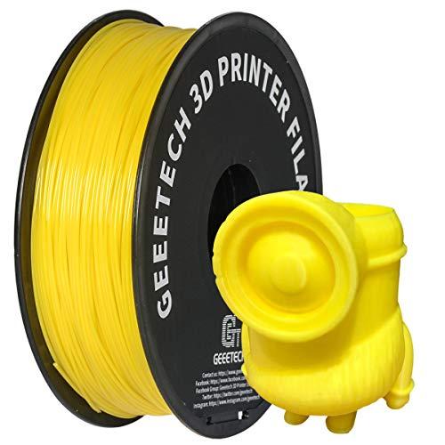 GEEETECH PLA Filamento 1.75mm 1kg Spool per Stampante 3D, Giallo