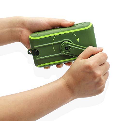 QYRL Zonne-energie, powerbank, dubbele USB-aansluiting, zaklamp voor outdoor, camping, wandelen, multifunctioneel generatie oplader
